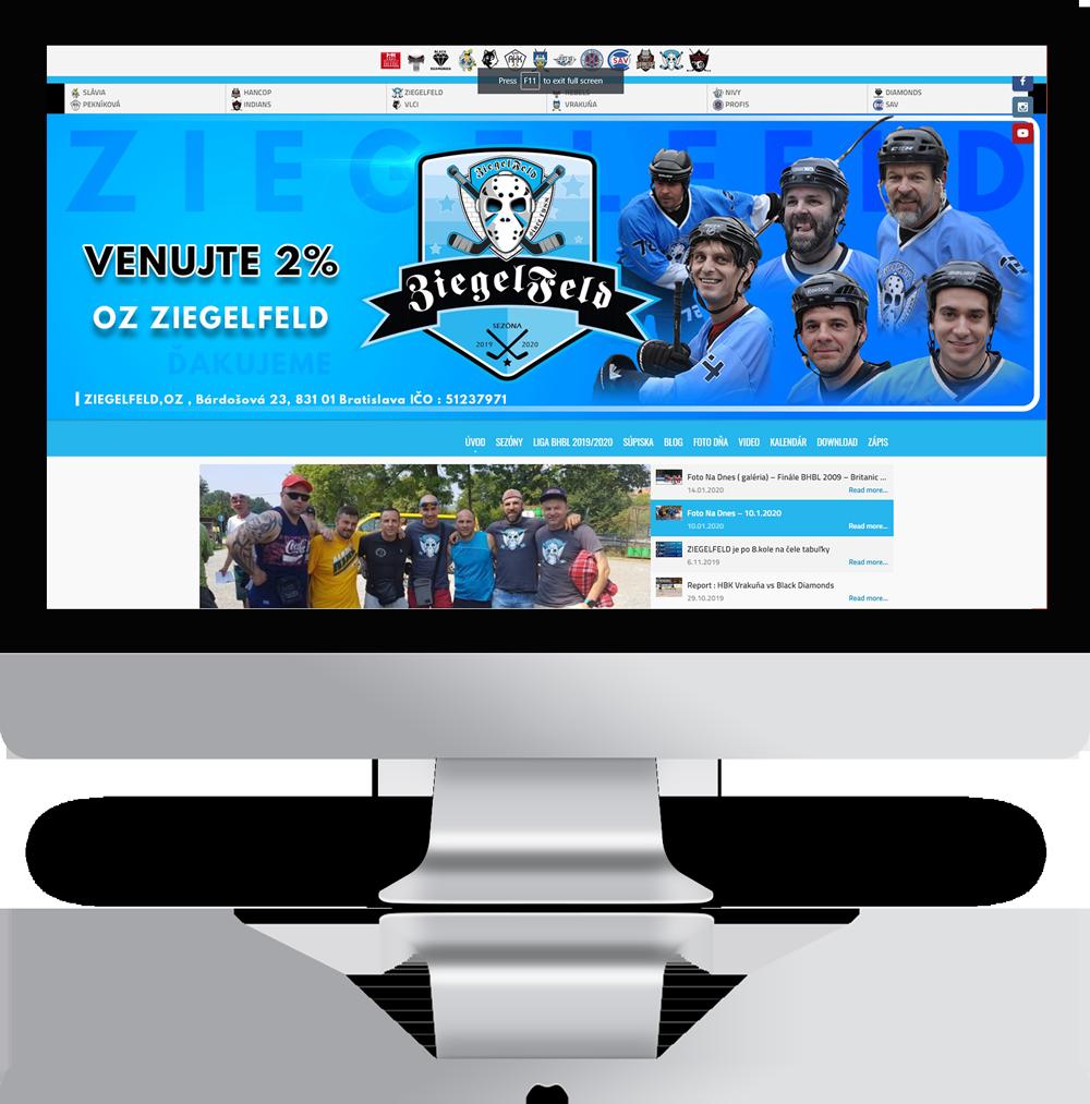 Tvorba webovej stránky pre hokejbalový klub