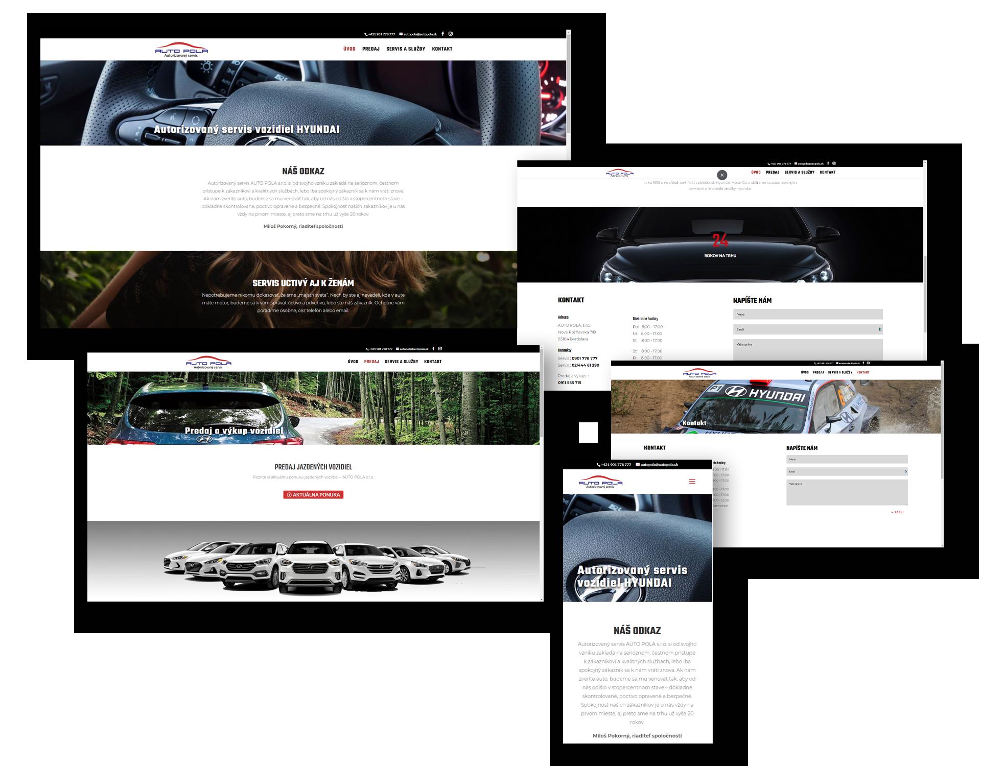 Tvorba webovej stránky pre autoservis